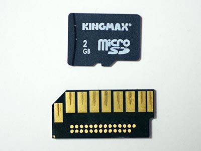 SDカードの内部パーツの比較